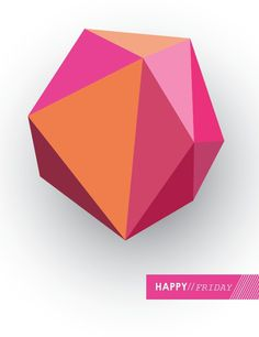 Friday #pink #friday #triangles #3d #hopelittle