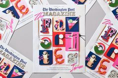 Washington Post is one of the biggest newspapers in the U.S. When they started planning for their readers Favorite's Issue they wanted som #colourful #washington #tactile #design #graphic #snask #colorful #handmade #typography