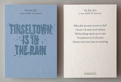 Creative Review - That's Impressive: promoting letterpress #print #letterpress #postcard #typography