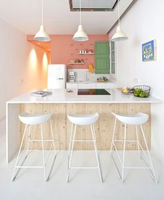 So Cheery and Fresh Tyche Apartment - kitchen, #kitchendesign, kitchen ideas, interior design, #kitchen