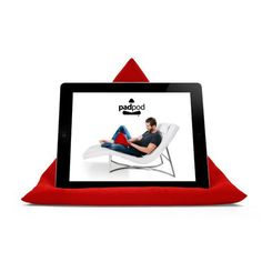 Energy Red iPad, Tablet & Book Cushion