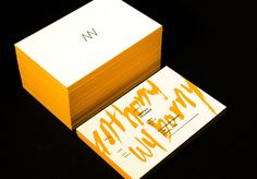 Anthony Wyborny Business Cards #graphic design #branding #business cards