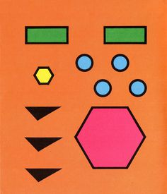 Shapes #pink #yellow #orange #shapes #circles #blue #green