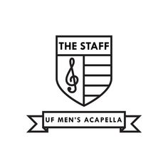 Logo design by Jordan Alessi #staff #design #crest #shield #acapella #uf #music #logo