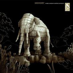Los-Angeles-Zoo-memory.jpg 1,000×1,000 pixels #elephant