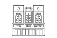 James Kape #architecture #vector #line #building #illustrator