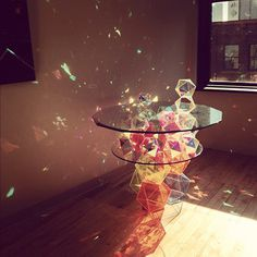 CJWHO ™ (Sparkle Geometric Table by John Foster) #sparkle #crafts #foster #design #interiors #geometric #john #art #table
