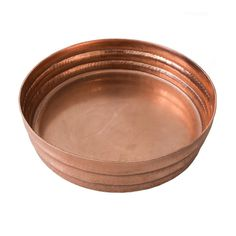 Rose Gold Ripple Round Tray, Medium