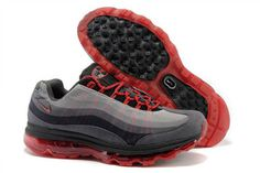 Air Max 95 360 Black Grey Red Nike Mens Shoes #shoes