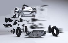 Exploded Cars by Fabian Oefner6 #explosion #car #art
