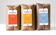 Verve Coffee Roasters #sustainable packaging concept coffee
