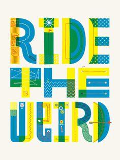 Jolby_RidetheWeird_01 #typography #hand drawn