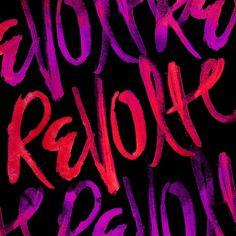 REVOLTE By Aubrey Klein - Designers.MX #klein #revolte #aubrey #mix #typography