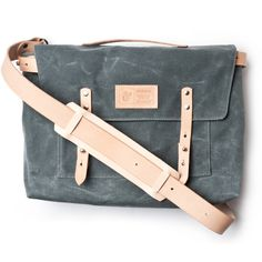 WAXED CANVAS MESSENGER BAG (CHARCOAL) #canvas #messenger #ugmonk #product #photography #leather #bag #waxed