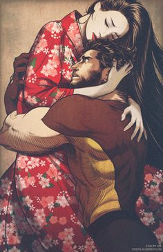 Mariko Yashido and Wolverine by Stacey Lee