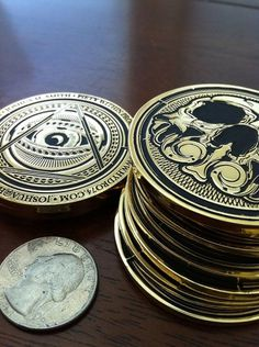 Hydro74 New Business Cards (coins) on the Behance Network #business #card #gold #hydro74 #coin