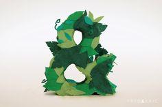 http://fredanderic.tumblr.com/ #ampersand #craft #felt #type #frederic