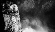 Snoqualmie Falls #white #washington #black #and #waterfall