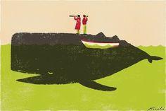 tumblr_kyo5qfte6p1qzj1mlo1_500.jpg (500×334) #whale #illustration