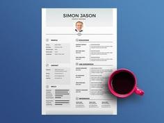 Free Basic White Resume Template In Illustrator Format
