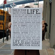 Holstee Manifesto Poster by Holstee | HOLSTEE #design #poster #awesome #life #typography