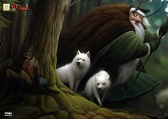 Max Kostenko - Home #wolves #forest #wizard
