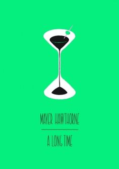 Mason London #mayer #typography #illustration #hawthorne #cocktail #green