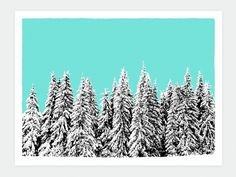 Snowblinded™ - Winter Pines Screen Print #print #illustration #art #winter #snow #screen print #spines #colorado #snowblinded #snowbl