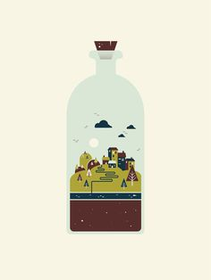 Waller Creek #waller #garner #bottle #city #benjamin #illustration #creek