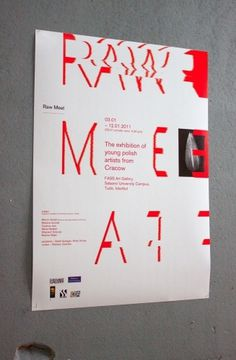 Raw Meat #type #layout #design #poster