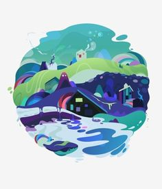 FFFFOUND! | wi105-13.jpeg 600×704 pixels #playful #bubbly #world #illustration #colorful #liquid #cute #splash #ffffound
