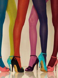 colours #colour #stockings #legs