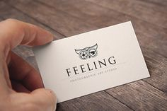 Logo design for a photography business #white #owl #business #card #black #and #logo