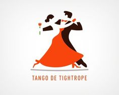 Tango de Tightrope by Double A #tightrope #dance #women #flower #logo #tango #man