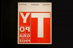 Typography (Emil Ruder, 1967) – designers books #design #book #cover #layout #typography