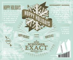 Schooner Exact Brewing Co. Winter Ale Label #packaging #beer #label #bottle