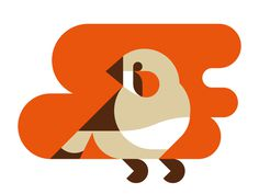 Febra Finch by Timo Meyer #illustartion #iconic #icon #bird #finch #geometric