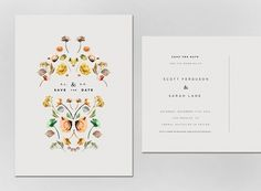 hedge invite #wedding #floral #invitation
