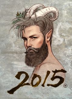 2015 the year of goat #satyr #sexy #beard #hipster #pan #man #god #drawing