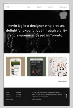 KVNG #website #layout #design #web