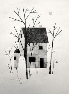 tumblr_lufbpiZMkK1qjx6w1o1_1280.jpg (JPEG Image, 585 × 797 pixels) - Scaled (85%) #ghost #house #klassen #jon #illustration