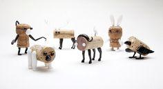 DIY cork stopper animals by reddish studio + oded friedland #reddish #studio #animals