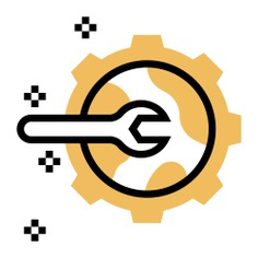 See more icon inspiration related to system, repair, gear, wrench, network, engineer, setting, networking and mechanic on Flaticon.