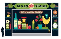 Stage Design #illustration #food