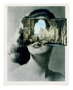 ENGAGING LANDSCAPE: John Stezaker, Collages #portrait #collage #landscape