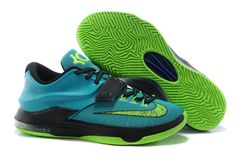 Black Nike Shoes Zoom Kd Vii 7 Mens Graess Green Special