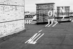 YOU ARE HERE (Ön itt áll), Reka Imre, Ivett Lénárt #typography #paint #perspective
