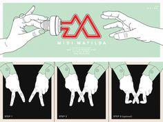 Midi Matilda #sanfrancisco #facebook #identity #logo #illustration #graphicdesign #music #band #khomus #hands #lightbulb