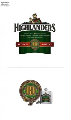 Not Just Logos (Part II) on the Behance Network #scotch #packaging #whisky #identity #highlanders