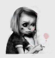 supersonic electronic / art #white #smoke #girl #jonas #rosey #school #charcoal #black #lfgren #cheeks #pencil